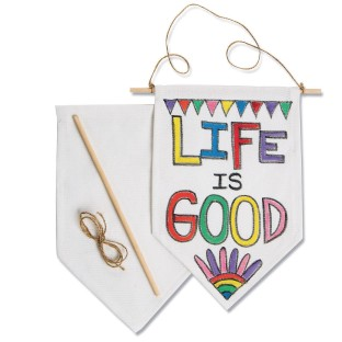 Color-Me™ Fabric Banners (Pack of 12) - Image 1 of 2