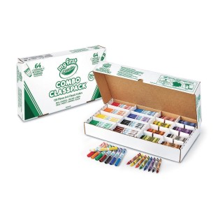 Crayola® My First Washable Crayon & Marker Classpack® (Box of 128) - Image 1 of 1