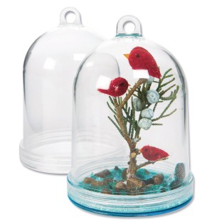 Fillable Hanging Plastic Dome (Pack of 12) - Image 1 of 1