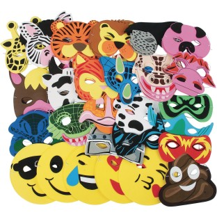 Foam Mask Animal Foam Mask Variety Pack (Pack of 60) - Image 1 of 1