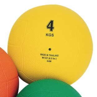 Rubber Medicine Ball, 8.8-lbs. - Image 1 of 1
