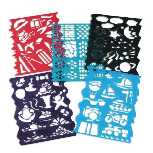 Plastic Stencils Assorted Designs (Pack of 10) - Image 1 of 3