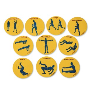 Teach N Train Fitness Spots (Set of 10) - Image 1 of 2