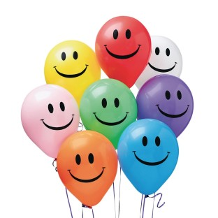Smile Balloons, Assorted Colors, 11