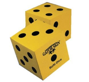 "Gator Skin® Softi Dice, Pair, 5"" - Image 1 of 1"