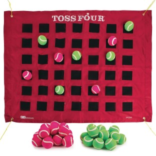 Toss Four Game Target and Balls - Image 1 of 4
