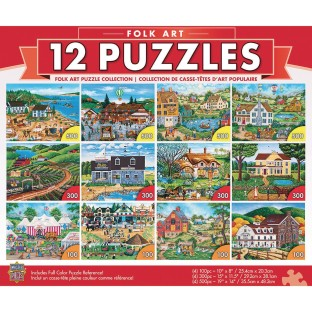 MasterPieces® Folk Art 12-Puzzle Multipack - Image 1 of 1