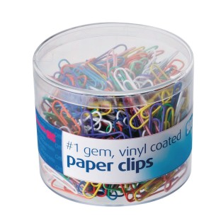 Colored Vinyl Coated Paper Clips - Image 1 of 1