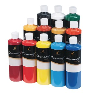 Chromacryl® Acrylic Paint Set 16 oz. (Set of 12) - Image 1 of 1