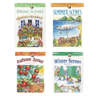 Seasons Adult Coloring Books (Set of 4) - Image 1 of 1