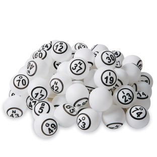 Ping Pong Style Replacement Bingo Balls, White (Set of 75) - Image 1 of 4