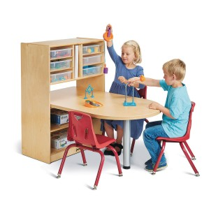 Jonti-Craft® Baltic Birch STEM/MakerSpace Table with Adjustable Storage and 6 Plastic Trays - Image 1 of 5