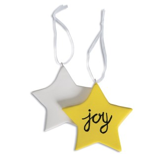 Color-Me™ Ceramic Bisque Star Ornaments (Pack of 24) - Image 1 of 2