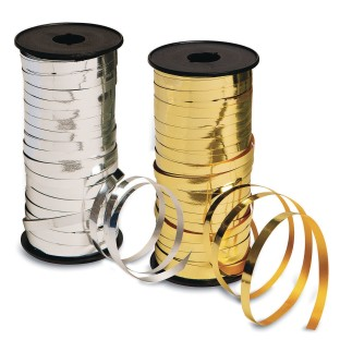 Metallic Curling Ribbon Spools for Balloons & More, 100 Yards - Image 1 of 3