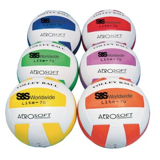 S&S® Lite-70™ Rubber Volleyball Set (Set of 6) - Image 1 of 1