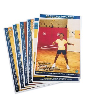 PE Central Cooperative Skills Challenge Poster Set (Set of 6) - Image 1 of 1