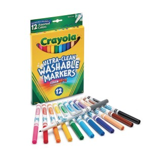 Crayola® Fine Line Washable Markers (Box of 12) - Image 1 of 2
