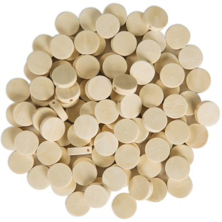 Round Wood Disc Beads (Pack of 100) - Image 1 of 1