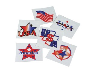 Patriotic Tattoos (Pack of 144) - Image 1 of 1