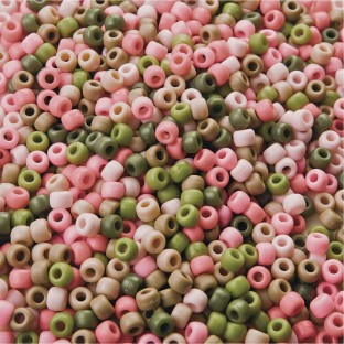 Pink Camouflage Pony Beads 1/2-lb Bag - Image 1 of 1
