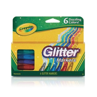 Crayola® Glitter Specialty Markers (Pack of 6) - Image 1 of 1