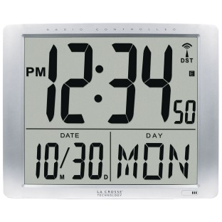 Jumbo Digits Atomic Wall Clock - Image 1 of 2