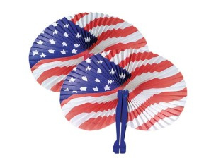 USA Fans (Pack of 12) - Image 1 of 1