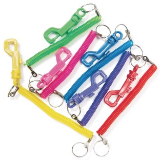 Coiled Clip Keychains (Pack of 12) - Image 1 of 1