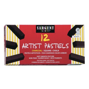 Charcoal Square Pastels (Pack of 12) - Image 1 of 1