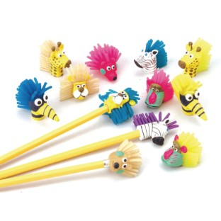Zoo Pencil Toppers (Pack of 12) - Image 1 of 1