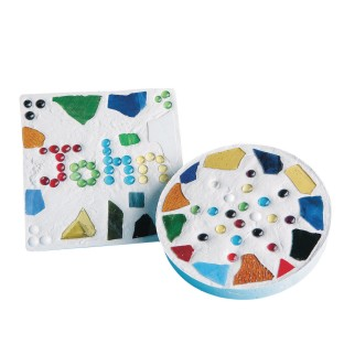 Mosaic Stepping Stone Craft Kit (Pack of 6) - Image 1 of 2