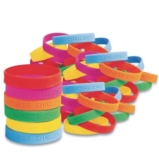 Silicone Fitness Challenge Award Bracelets (Pack of 48) - Image 1 of 4