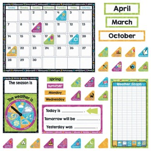 Color Harmony™ Calendar Bulletin Board Decoration Set - Image 1 of 3