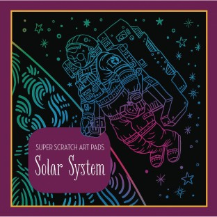 Super Scratch Art Pad - Solar System - Image 1 of 1