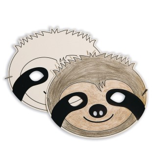Sloth Half Mask (Pack of 24) - Image 1 of 2