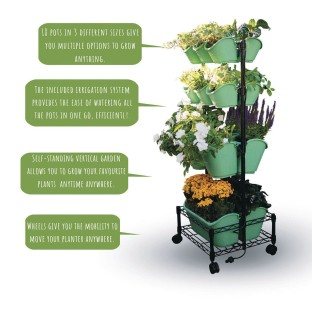 Mobile Double Wall Planter - Image 1 of 4