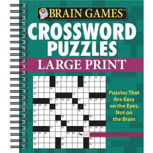 Brain Games™ Large Print Crosswords, Green Cover - Image 1 of 1