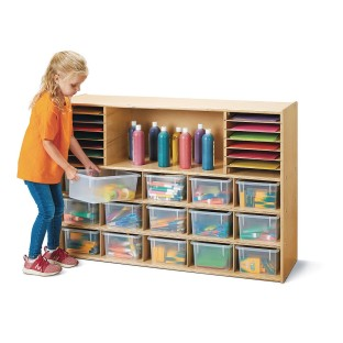Jonti-Craft® Young Time™ Sectional Cubbie Tray Storage Unit - Image 1 of 3