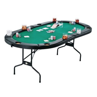 Fat Cat Folding Texas Hold 'em Table - Image 1 of 2