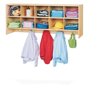 Jonti-Craft® Young Time™ 10-Section Wall Mount Coat Locker - Image 1 of 2