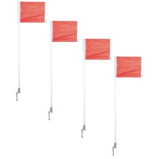 Champro® Deluxe Soccer Corner Flag Set with Spring Support - Image 1 of 1