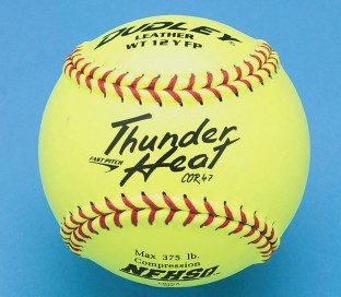 "Dudley® Thunder 12"" NFHS Fast Pitch Leather Softball (Pack of 12) - Image 1 of 1"