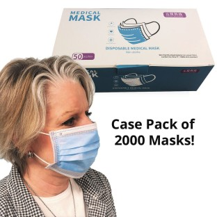 Medical Face Masks with Ear Loops (Case of 2000) - Image 1 of 5