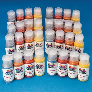 Color Splash!® Metallic Acrylic Paint Pass Around Pack, 1 oz. (Pack of 32) - Image 1 of 2