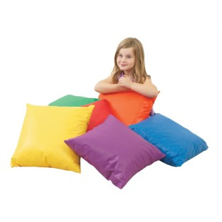 "Children's Factory® Cozy Brightly Primary Colored 17"" Pillows (Set of 6) - Image 1 of 2"