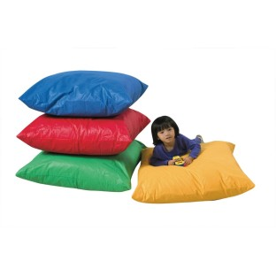 The Children's Factory® Primary Colored Floor Pillows, 27