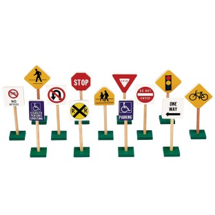 Block Play Traffic Signs (Set of 13) - Image 1 of 1