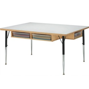 Classroom Cubbie Table With Paper Trays - Image 1 of 1