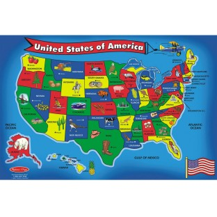 Melissa & Doug® Floor Puzzle USA Map - Image 1 of 1
