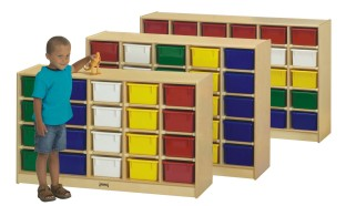 20-Tray Cubbie with Color Trays - Image 1 of 1